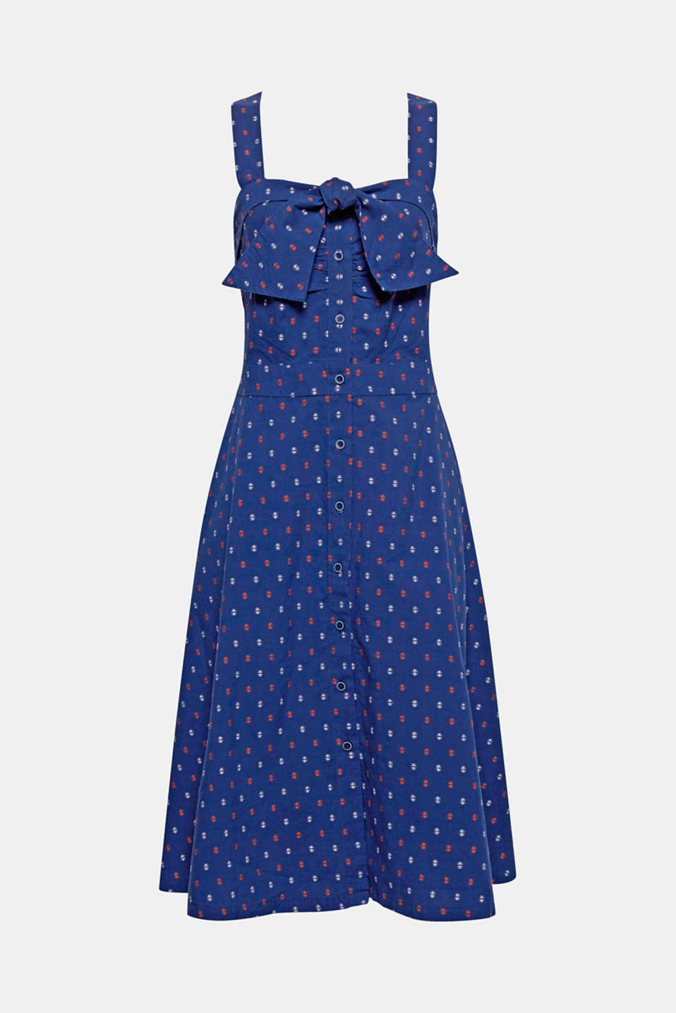 So retro: A feminine A-silhouette, pure cotton fabric with a decorative woven pattern and a dainty bow detail make this dress the perfect summer companion.