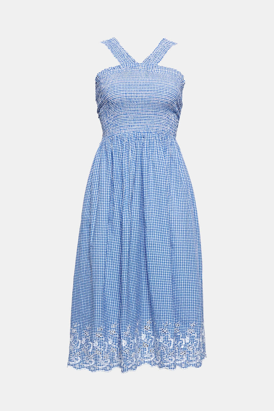 With soft fabric composed of organic cotton, trendy gingham design and an airy silhouette, this dress combines all features that a perfect summer companion should have.