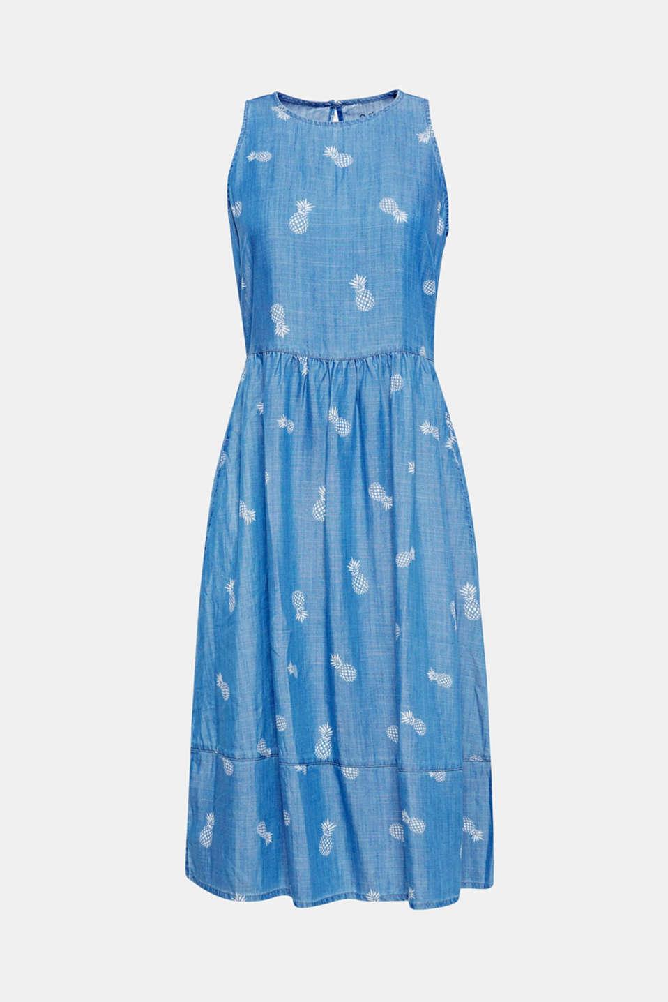 edc - Kleid in leichter Denim-Optik mit Ananas-Print im Online Shop ...