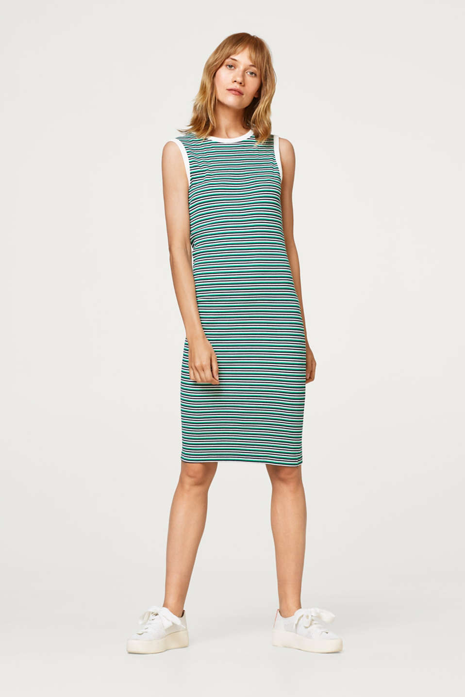 edc - Striped dress made of ribbed jersey