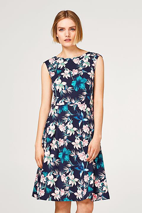 Floral bedrucktes Kleid aus Baumwoll-Jersey