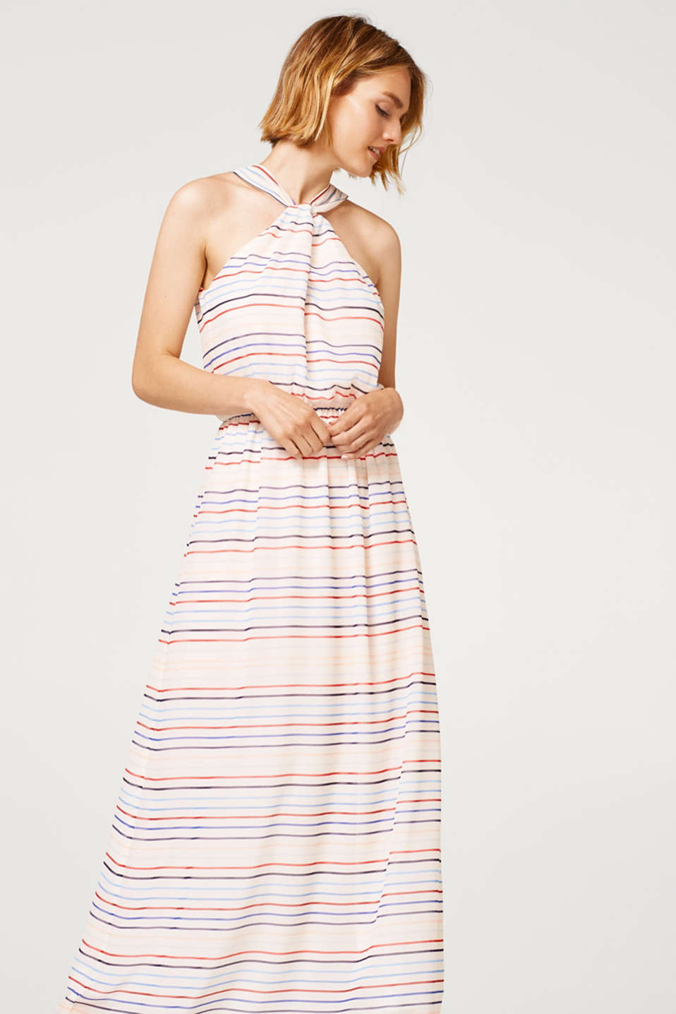 edc - Chiffon maxi dress with a striped pattern