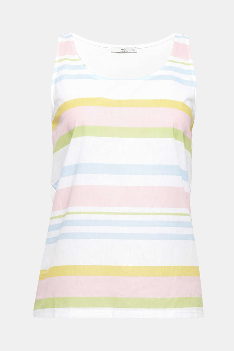 This colourful striped top in a mix of materials has a feel-good look and is extremely comfortable to wear. Made of pure cotton.