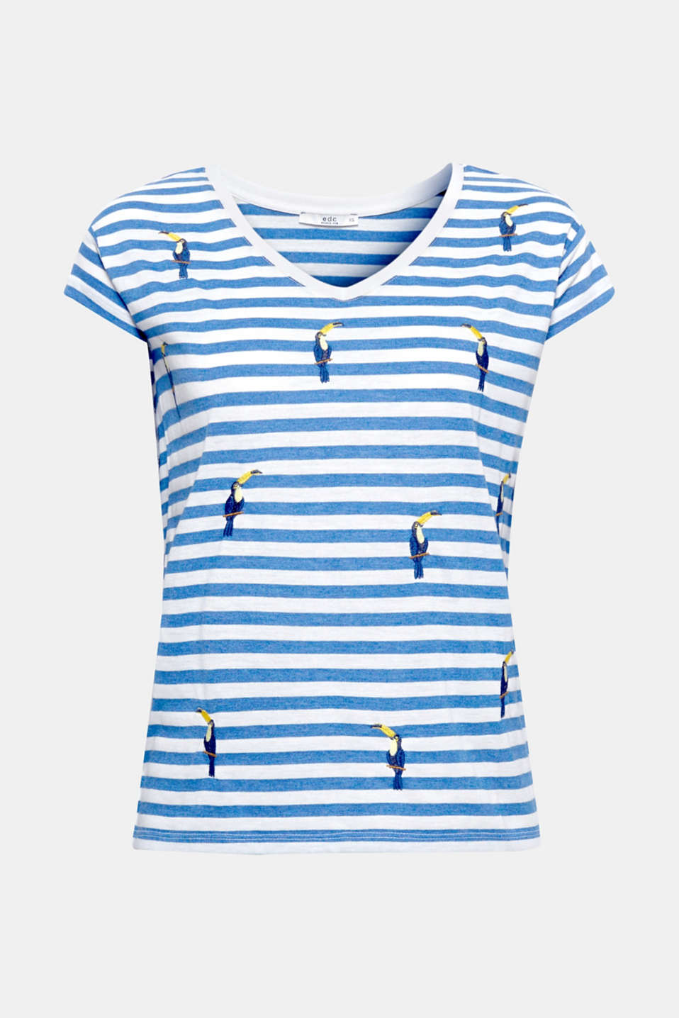 Be my cactus: the combination of stripes and embroidered cactus or cockatoo motifs gives this T-shirt a summery vibe!