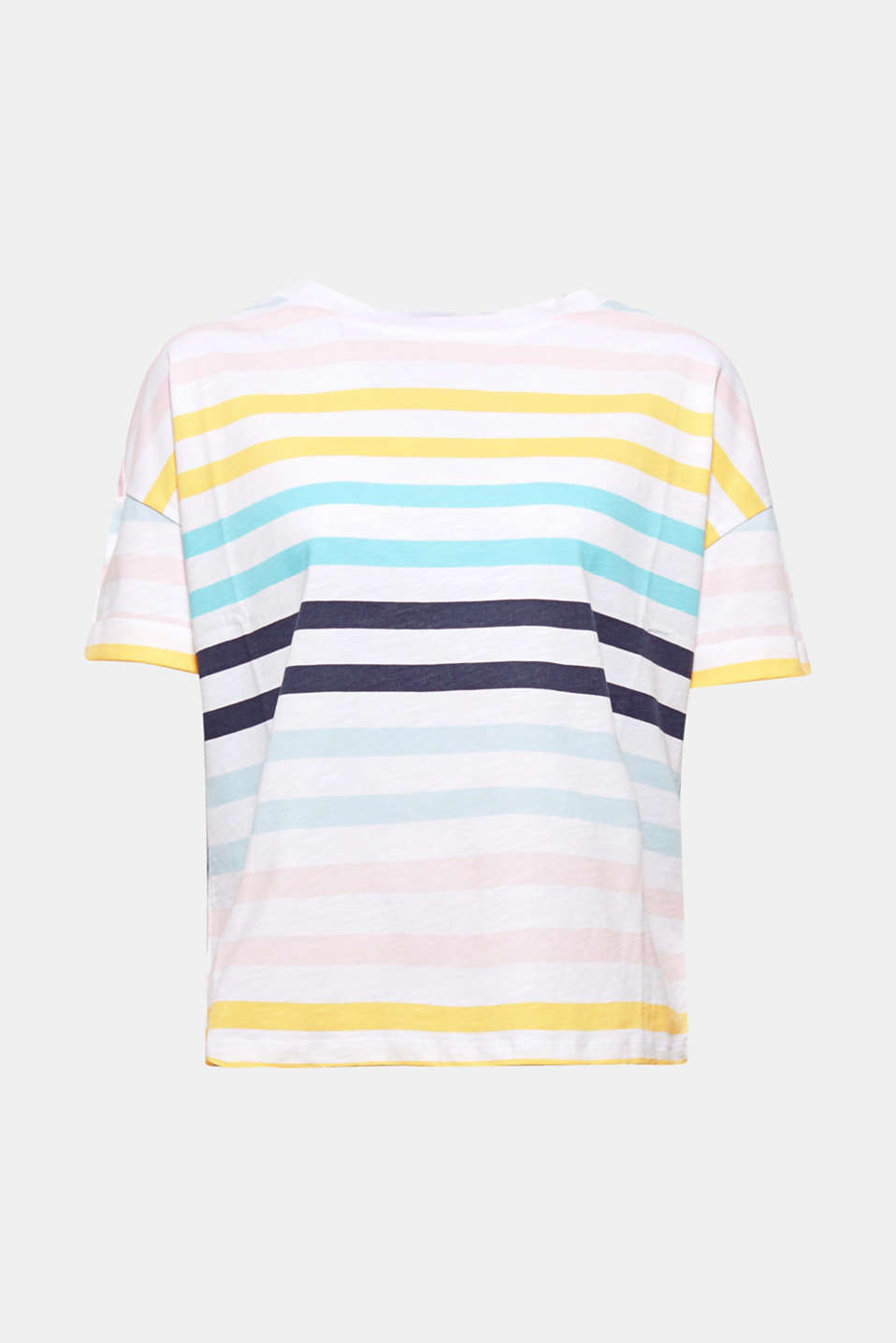This colourfully striped T-shirt made of soft slub jersey guarantees a fresh, upbeat look! Pure cotton provides ultimate comfort.