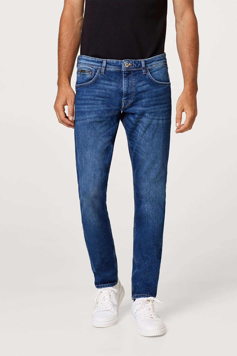 edc - Stretch jeans with zip detail