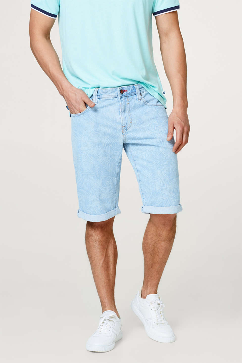 edc - Bleached-effect denim shorts in 100% cotton