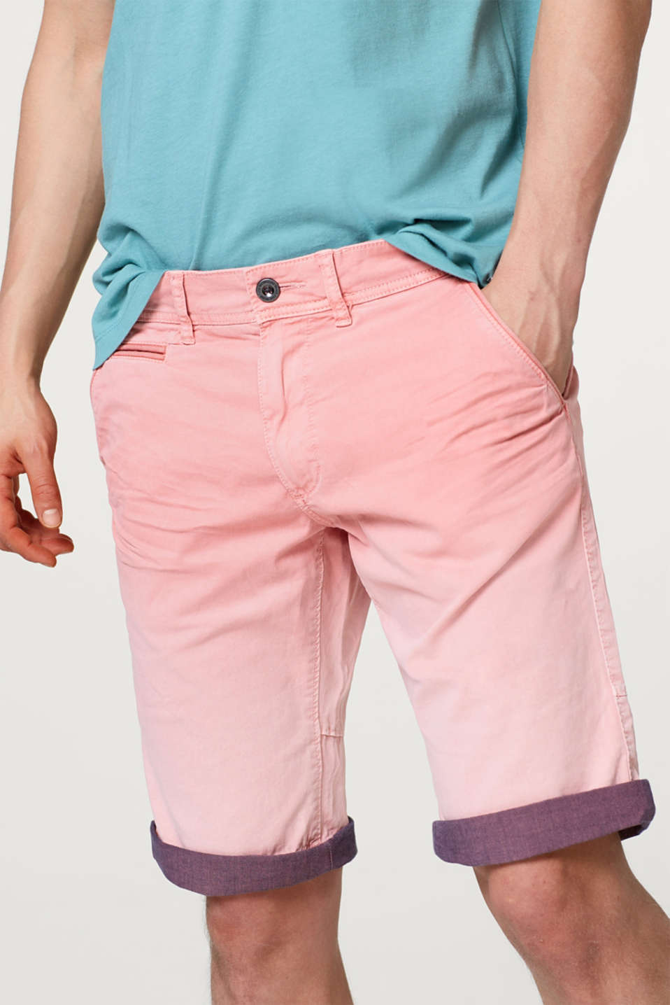 edc - Short en coton stretch, orné d'un dégradé de couleurs
