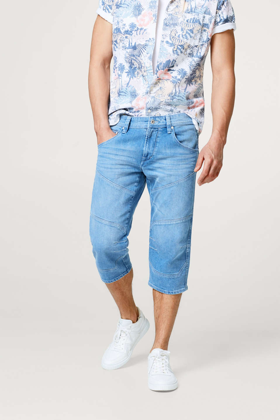 edc - Stretch jeans in a 3/4-length