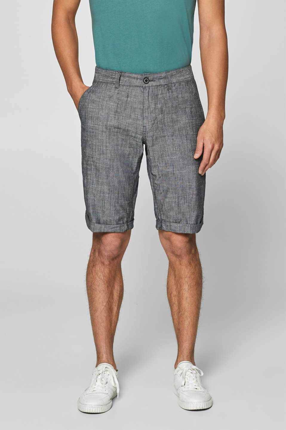 edc - Shorts chambray in 100% cotone