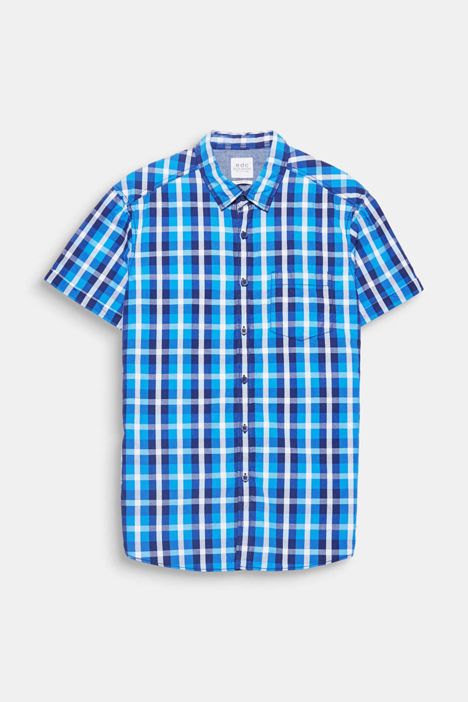 Trendy colours and a distinctive checked pattern give this short sleeve shirt its striking look.