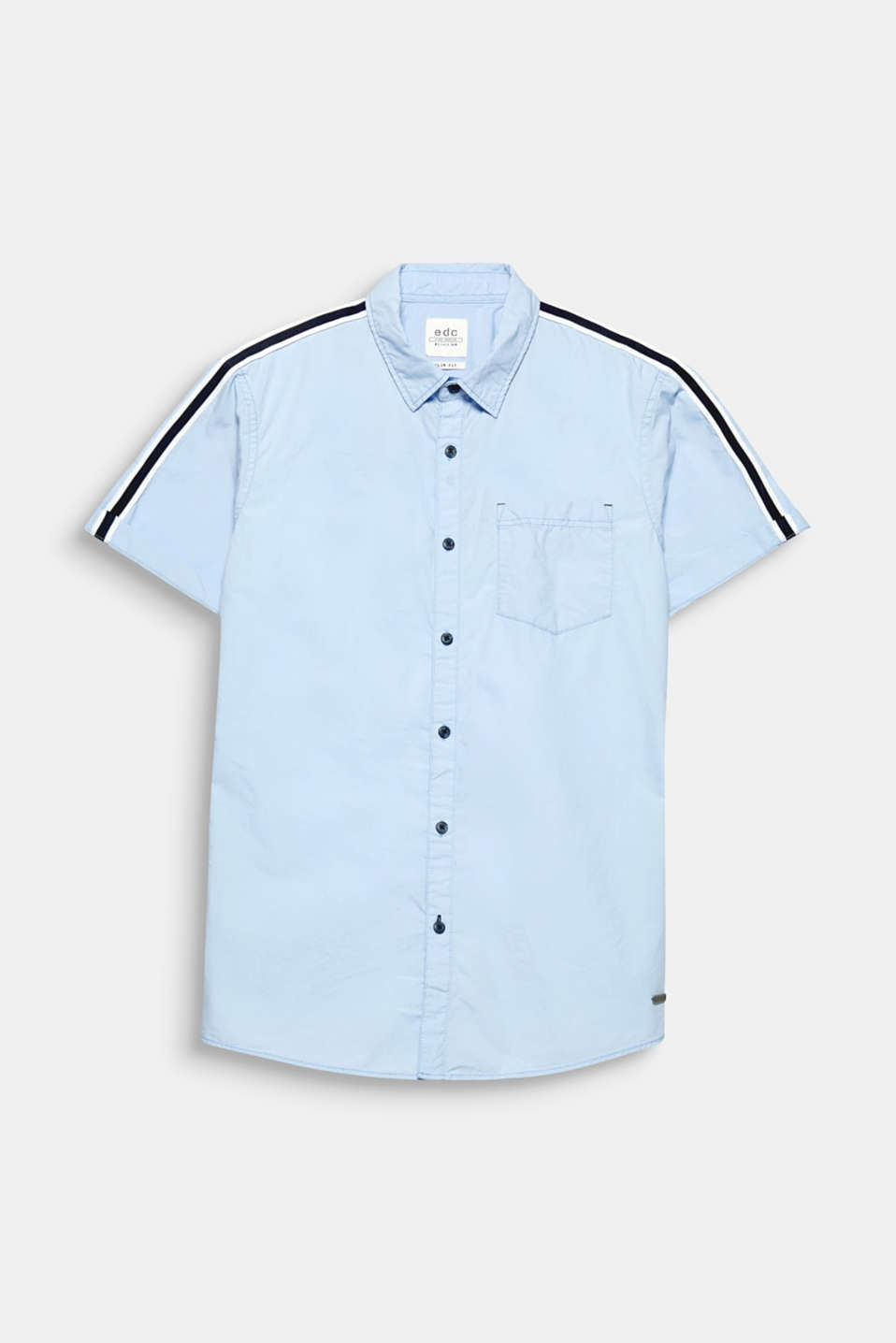 This short sleeve shirt has a distinctive sporty look thanks to the woven tape on the shoulders.