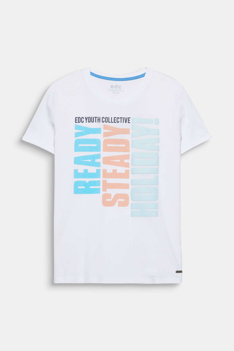 Ready, Steady, Holiday! Et print, et statement - på denne T-shirt i 100% bomuld.