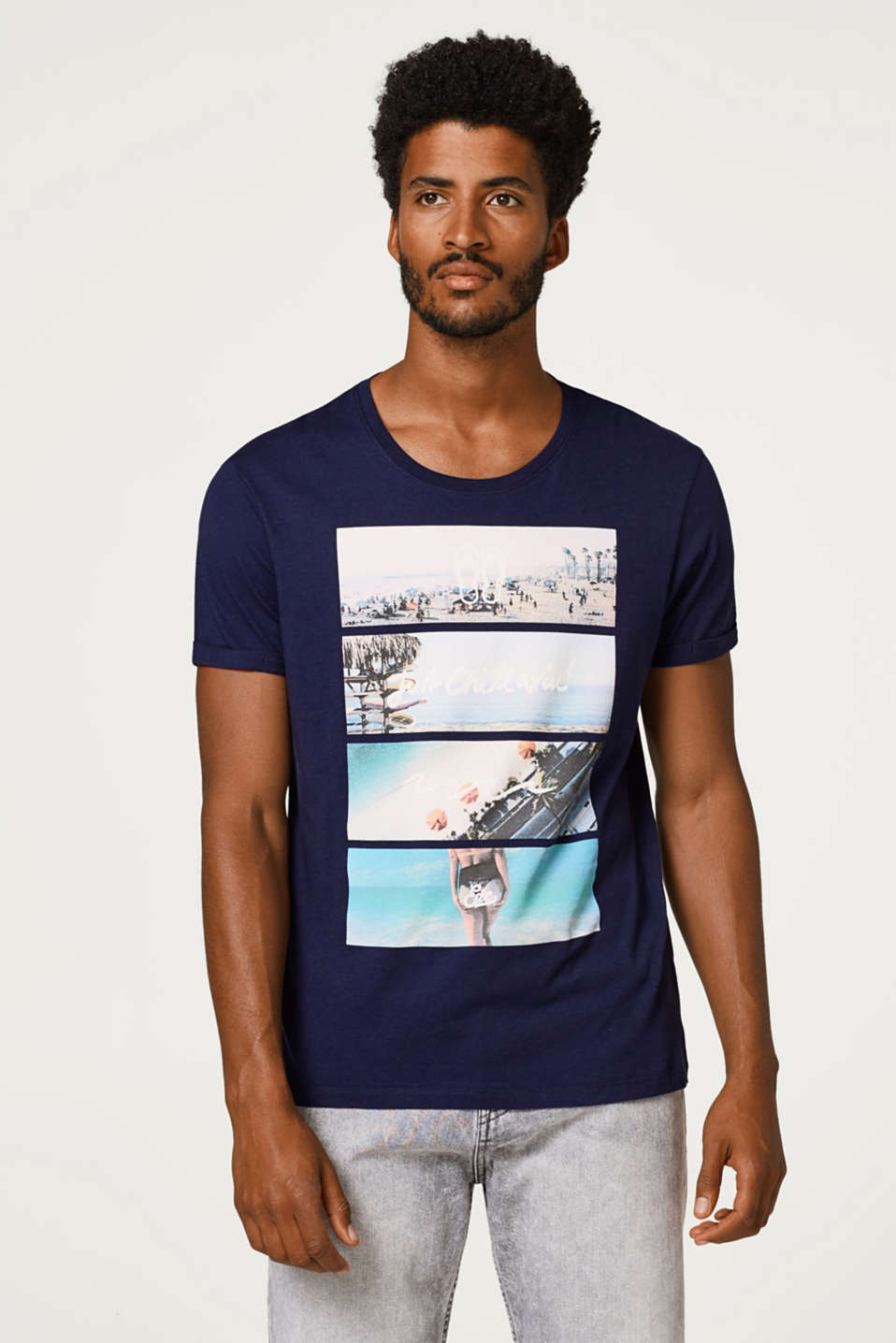 edc - Jersey T-shirt with a photo print, in cotton