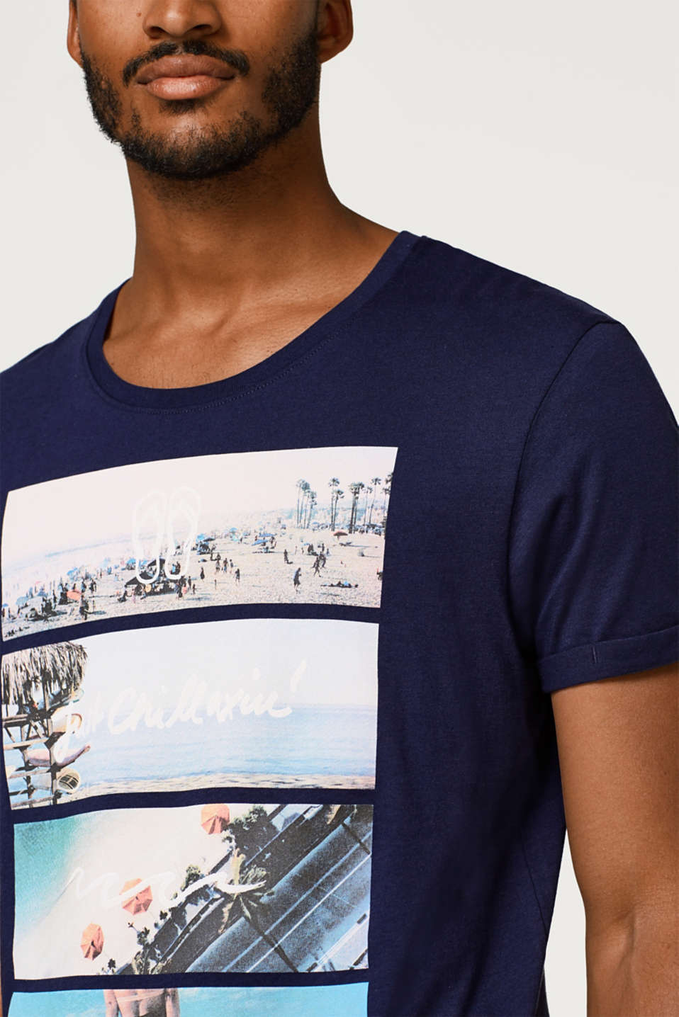 Jersey T-shirt with a photo print, in cotton