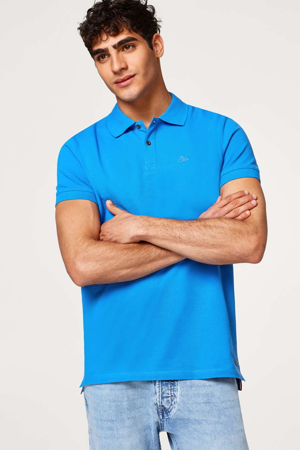 edc - Pure cotton piqué polo shirt
