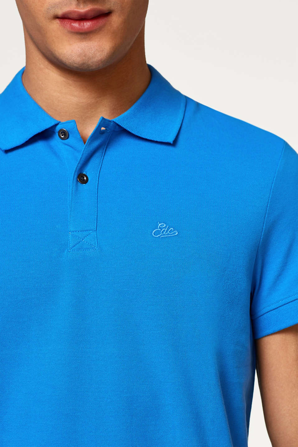 Pure cotton piqué polo shirt