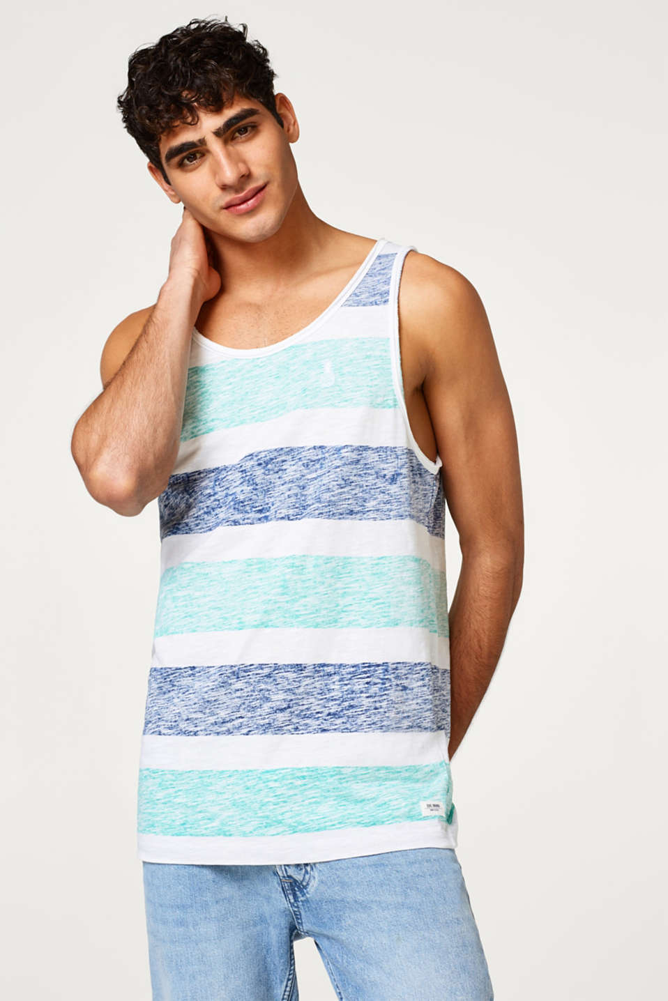 edc - jersey vest with inside-out print