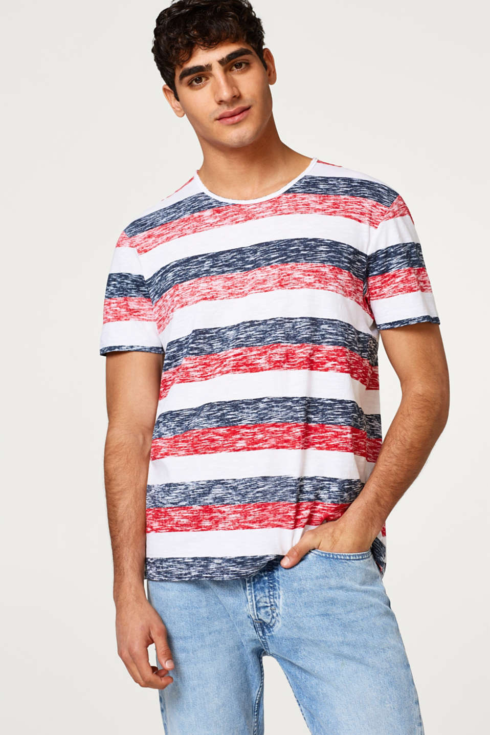 edc - Jersey shirt with an inside-out print composed of cotton
