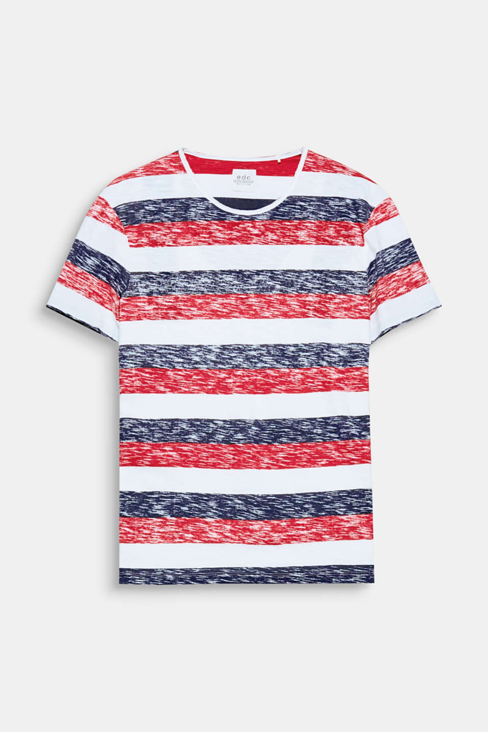 The striped inside-out print gives this pure cotton t-shirt its casual look.