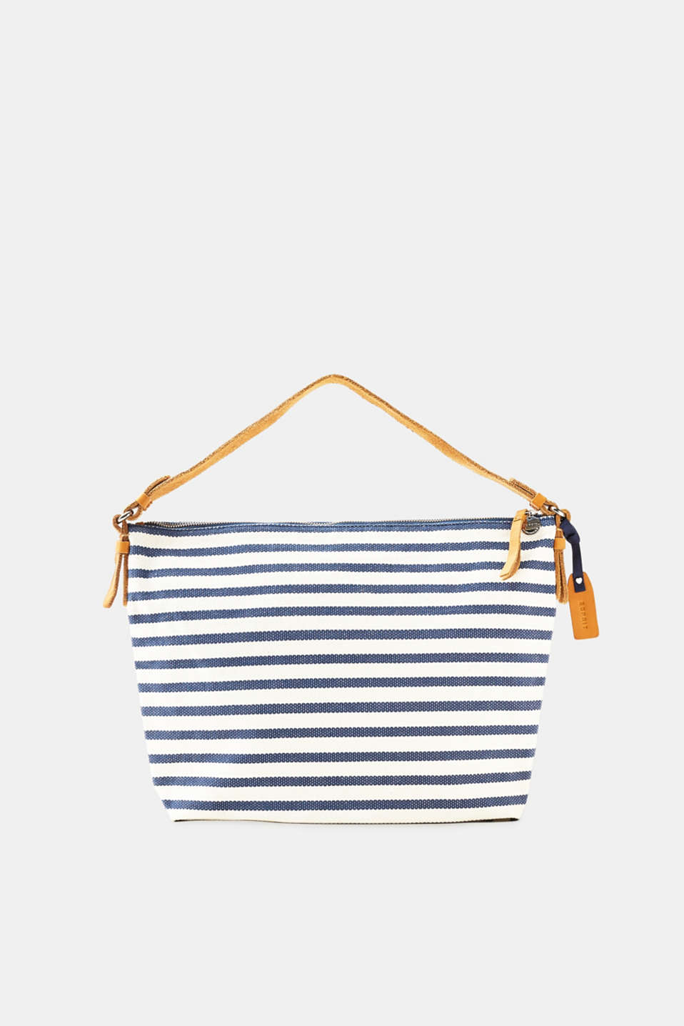 Hobo bag in coarse cotton canvas is the perfect nautical accessory for your summer look.