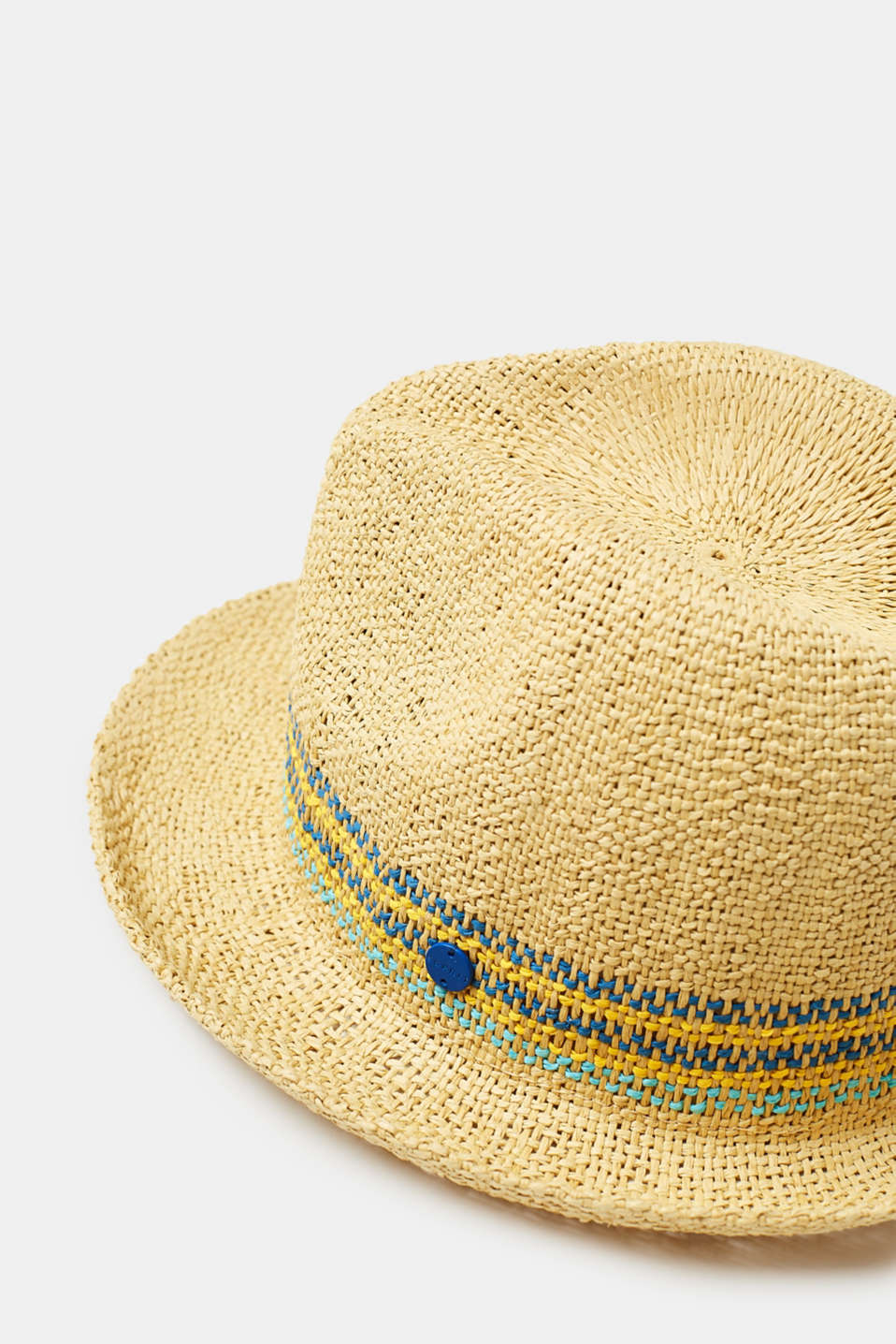 Lightweight straw hat with stripes