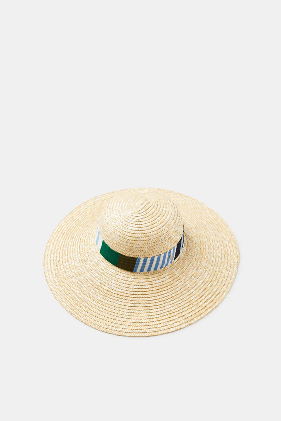 For the beach or the city, this summer hat with a wide brim and a decorative band provides ideal protection from the sun and rounds your look off in stylish fashion.