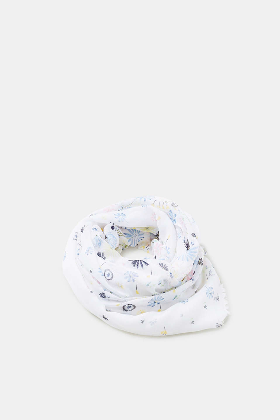 Esprit - Woven scarf with a floral print