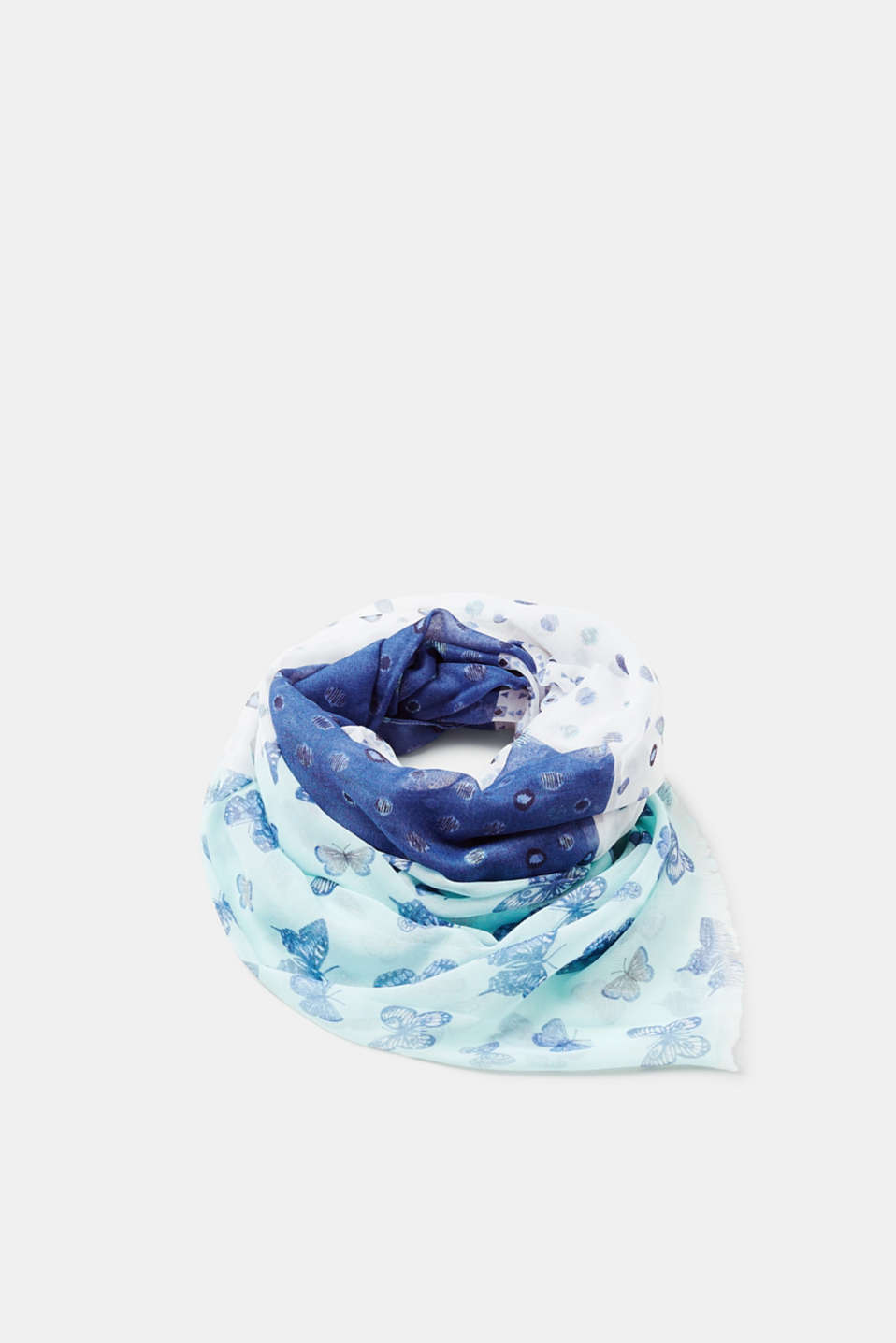 Esprit - Woven scarf with a butterfly print