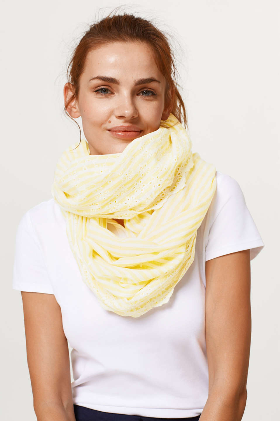 Cotton broderie anglaise snood