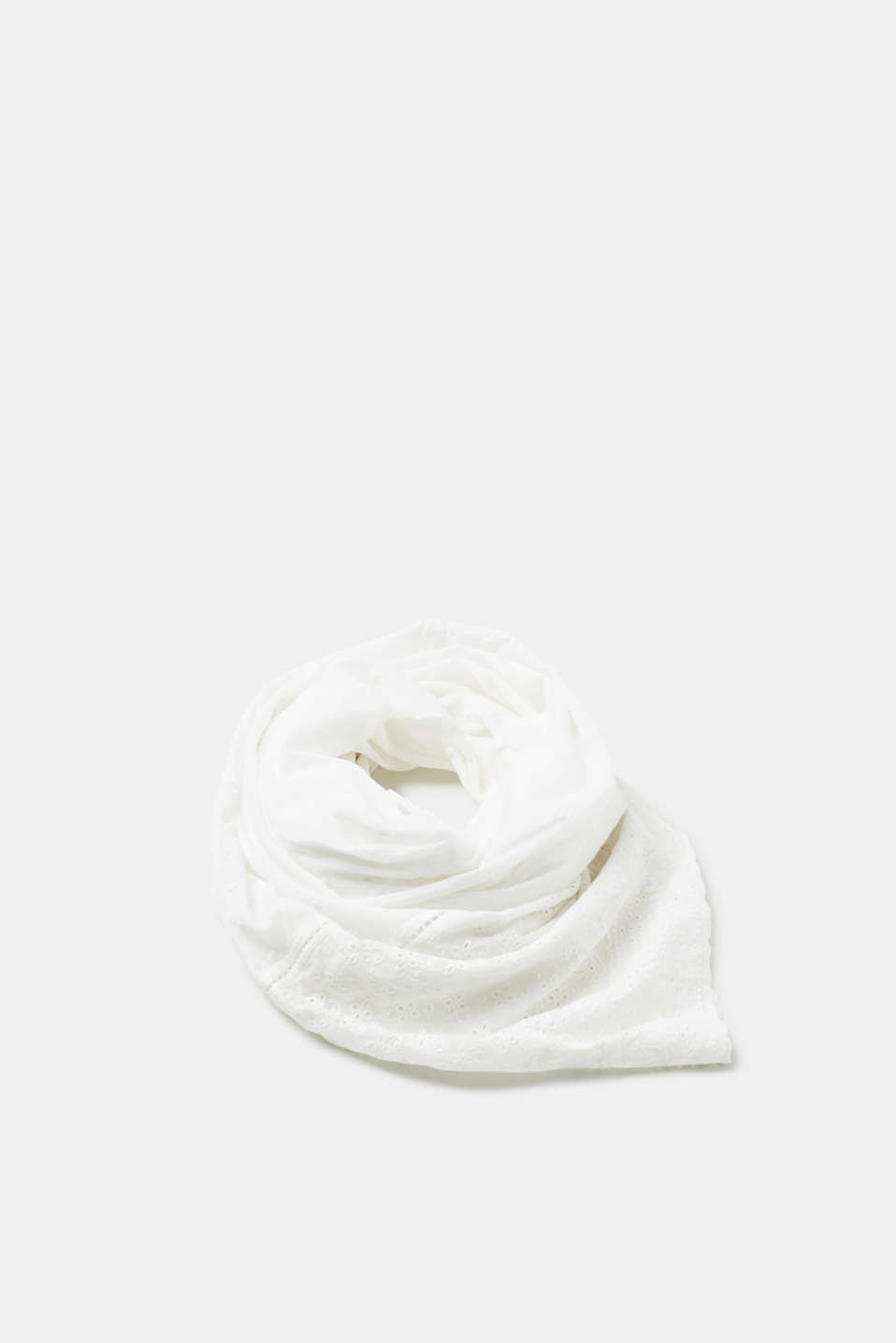 Esprit - Lightweight snood with broderie anglaise