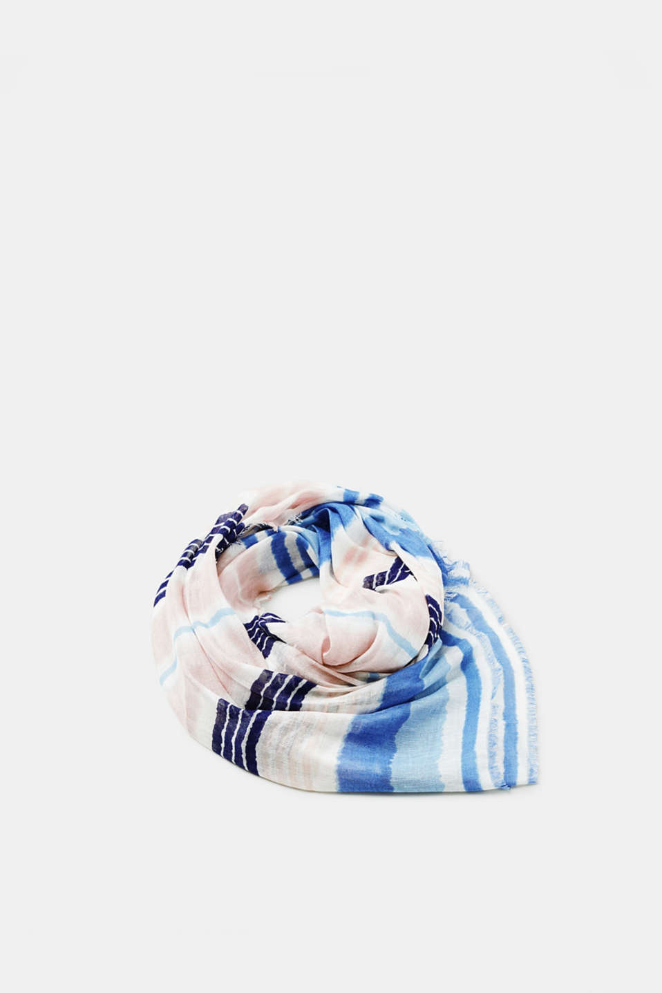 Esprit - Striped oversized scarf in blended linen