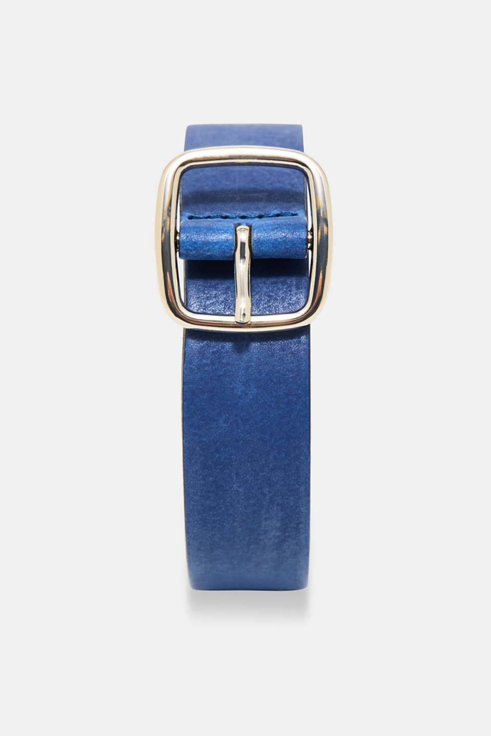 Esprit - Leather belt with a high-shine metal buckle