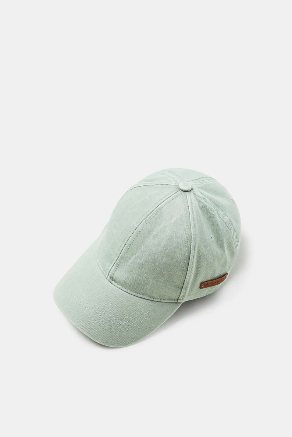 Esprit - Canvas baseball cap with a subtle garment-washed effect
