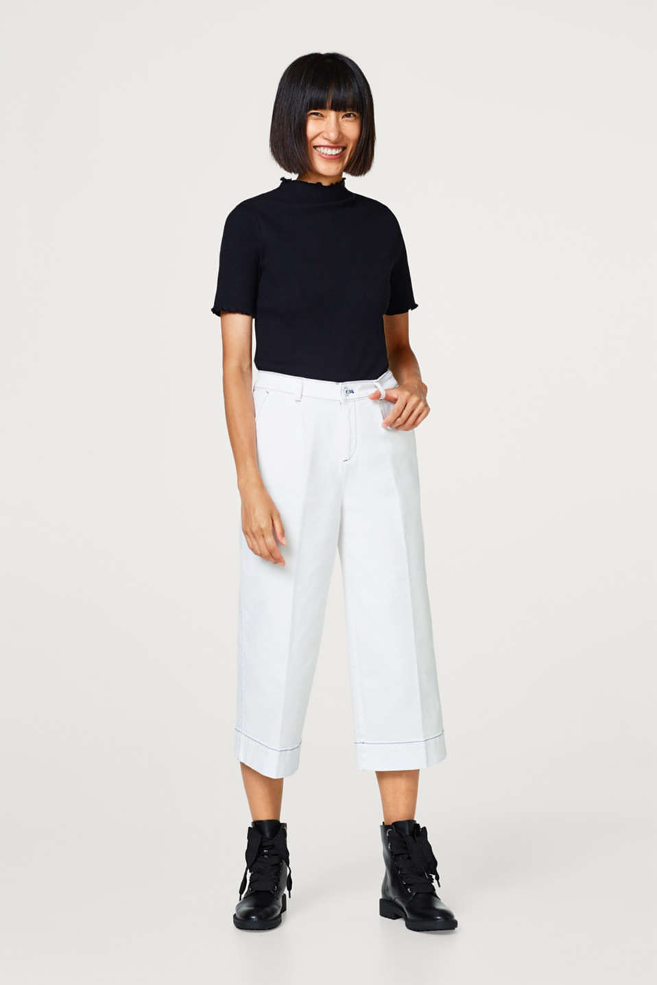 Esprit - Culottes in somewhat thicker cotton stretch