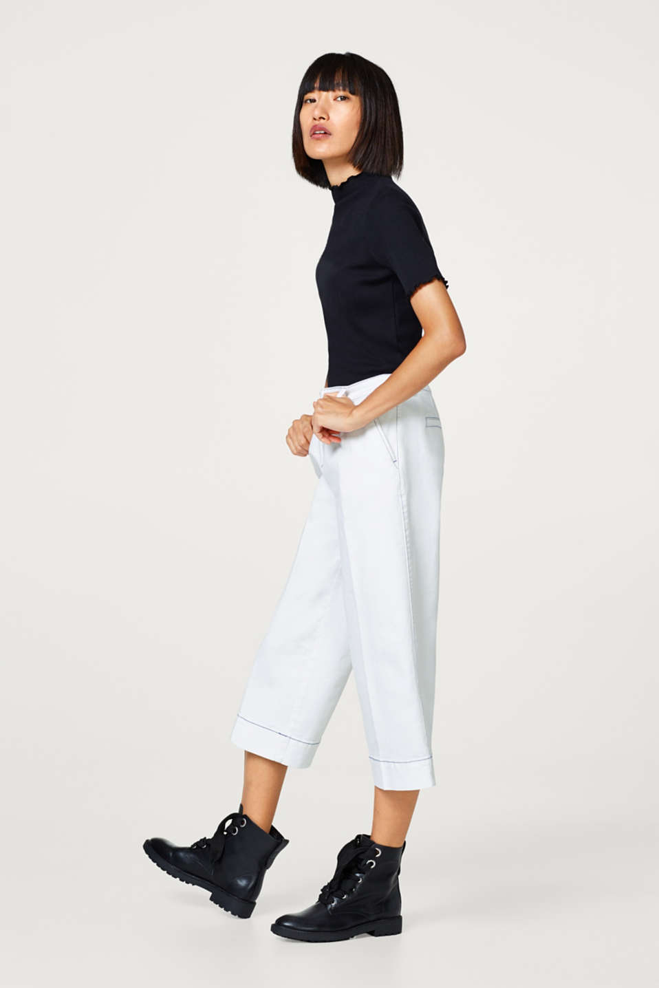 Culottes in somewhat thicker cotton stretch