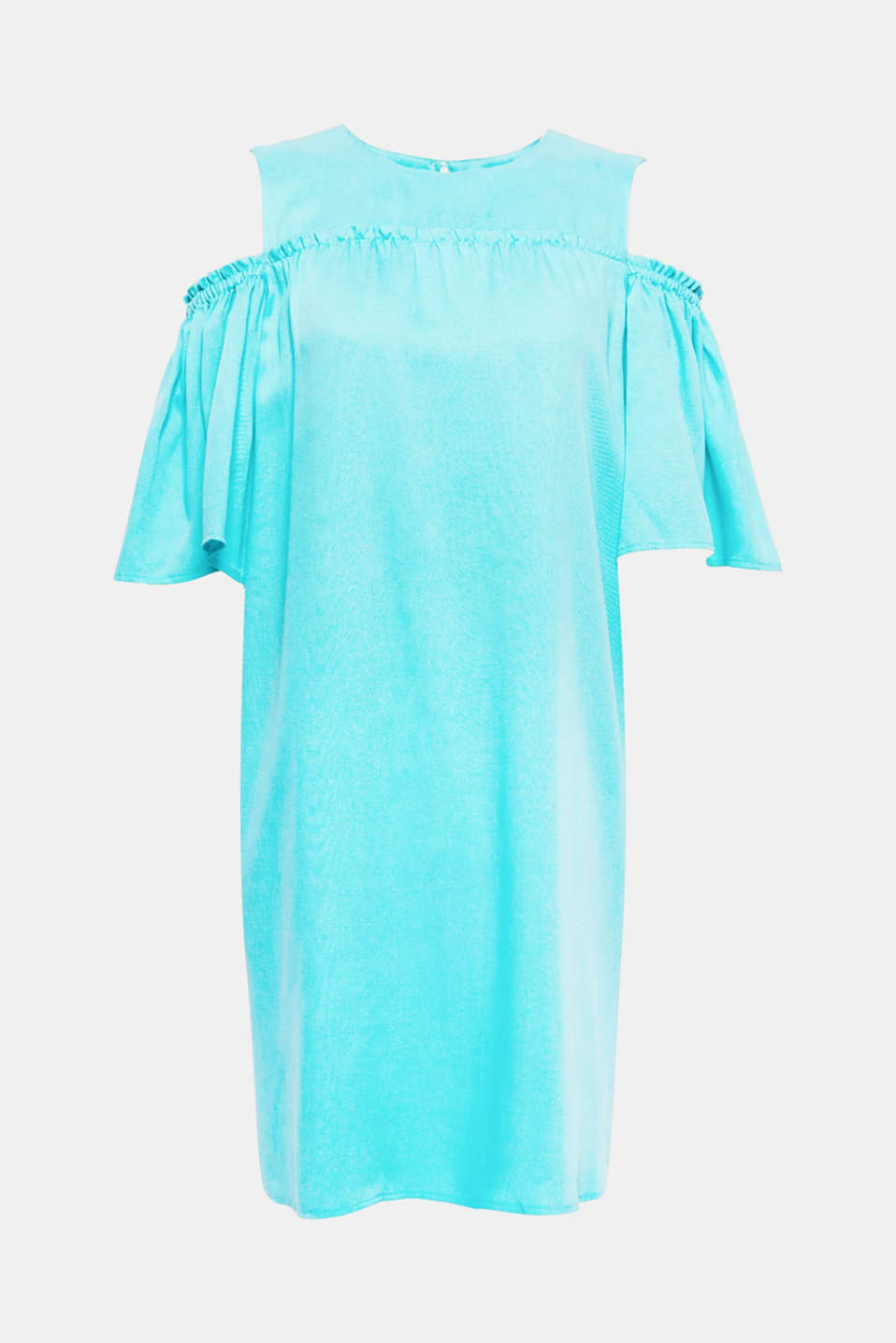 Happy summer: this airy, textured lyocell dress in a cold-shoulder look with wide sleeves exudes nothing but good vibes!