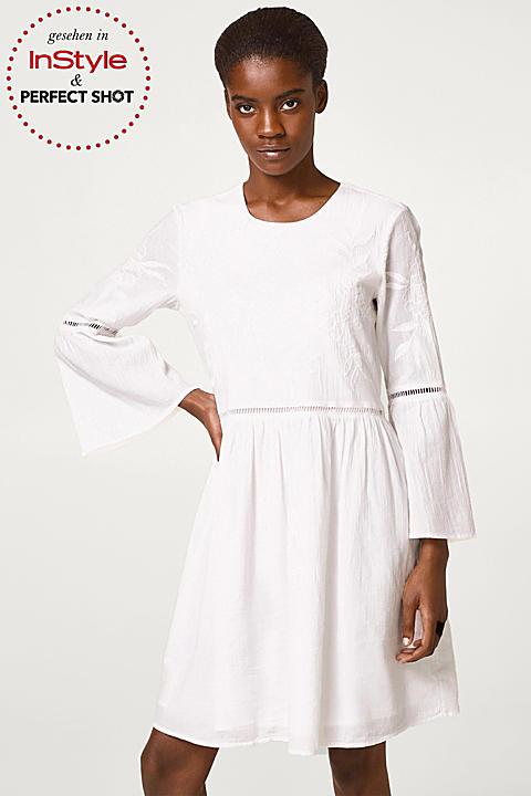 Tunika-Kleid mit Stickerei, 100% Baumwolle