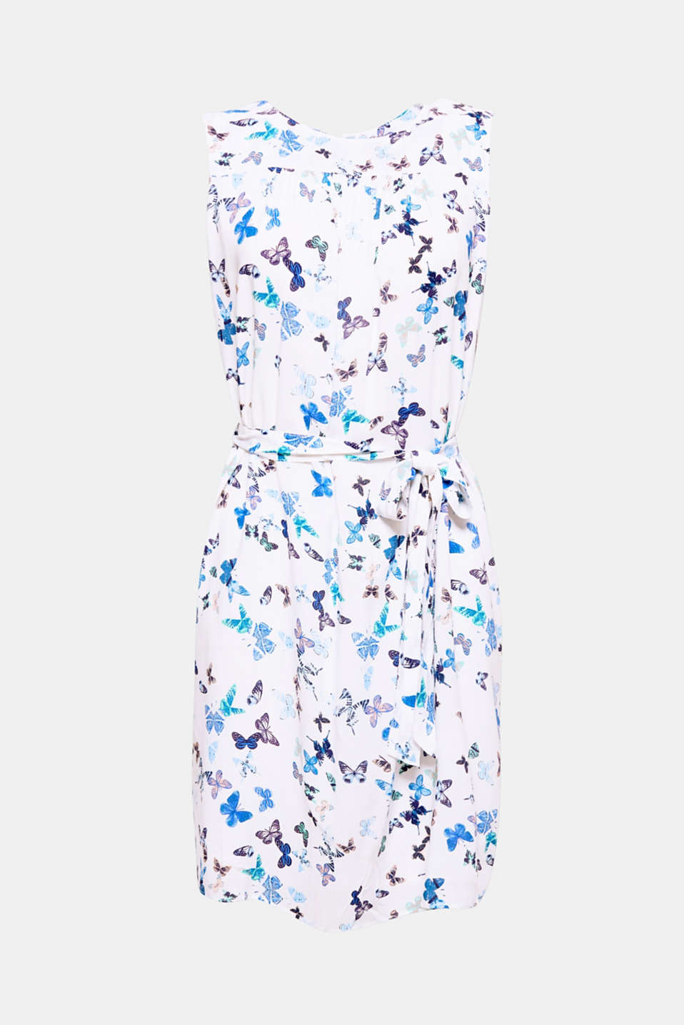 A pretty look for hot days: With this lightweight dress with a butterfly print and tie-around print, you will look feminine and trendy, even at the height of summer!