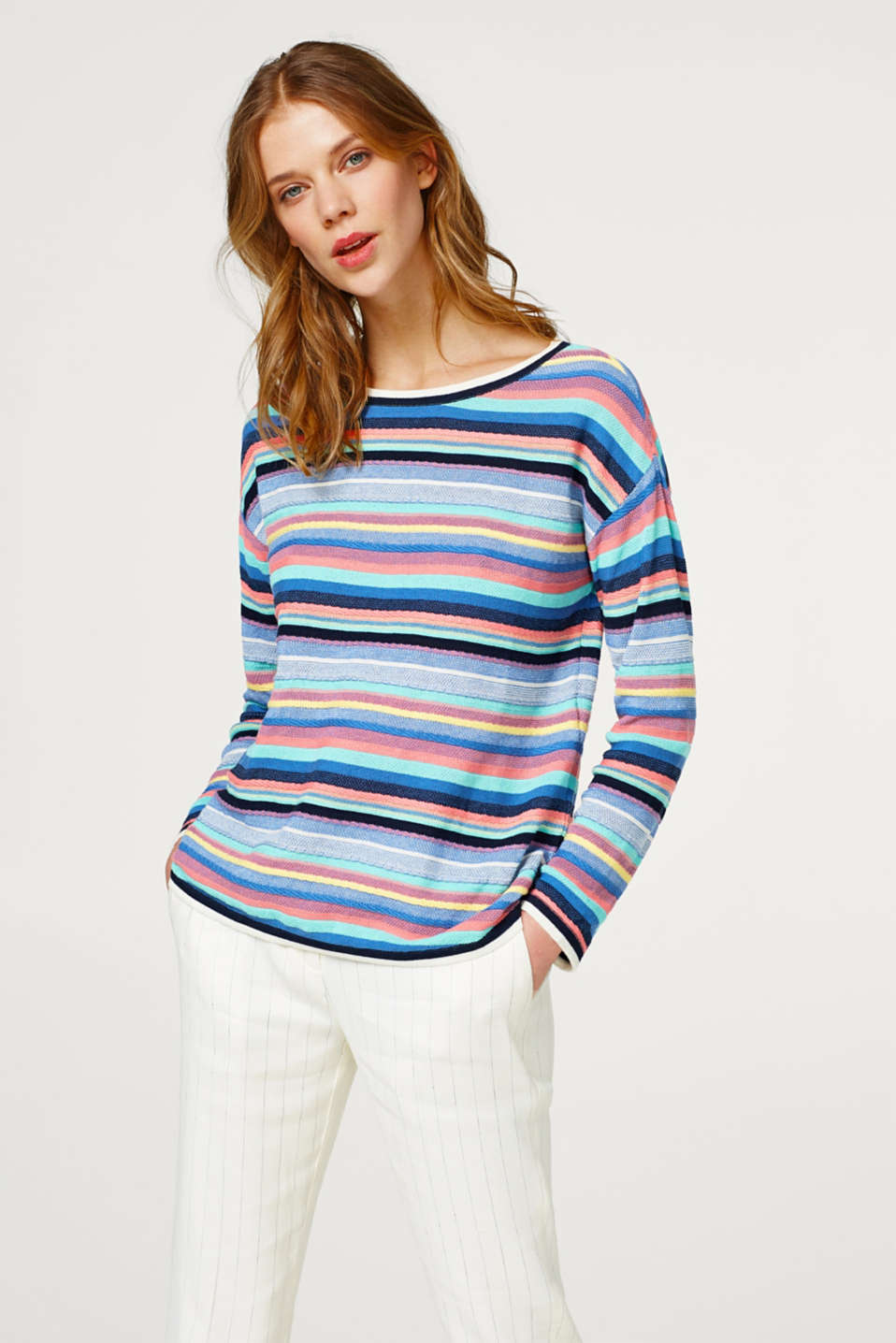 Esprit - Soft textured jumper, 100% cotton