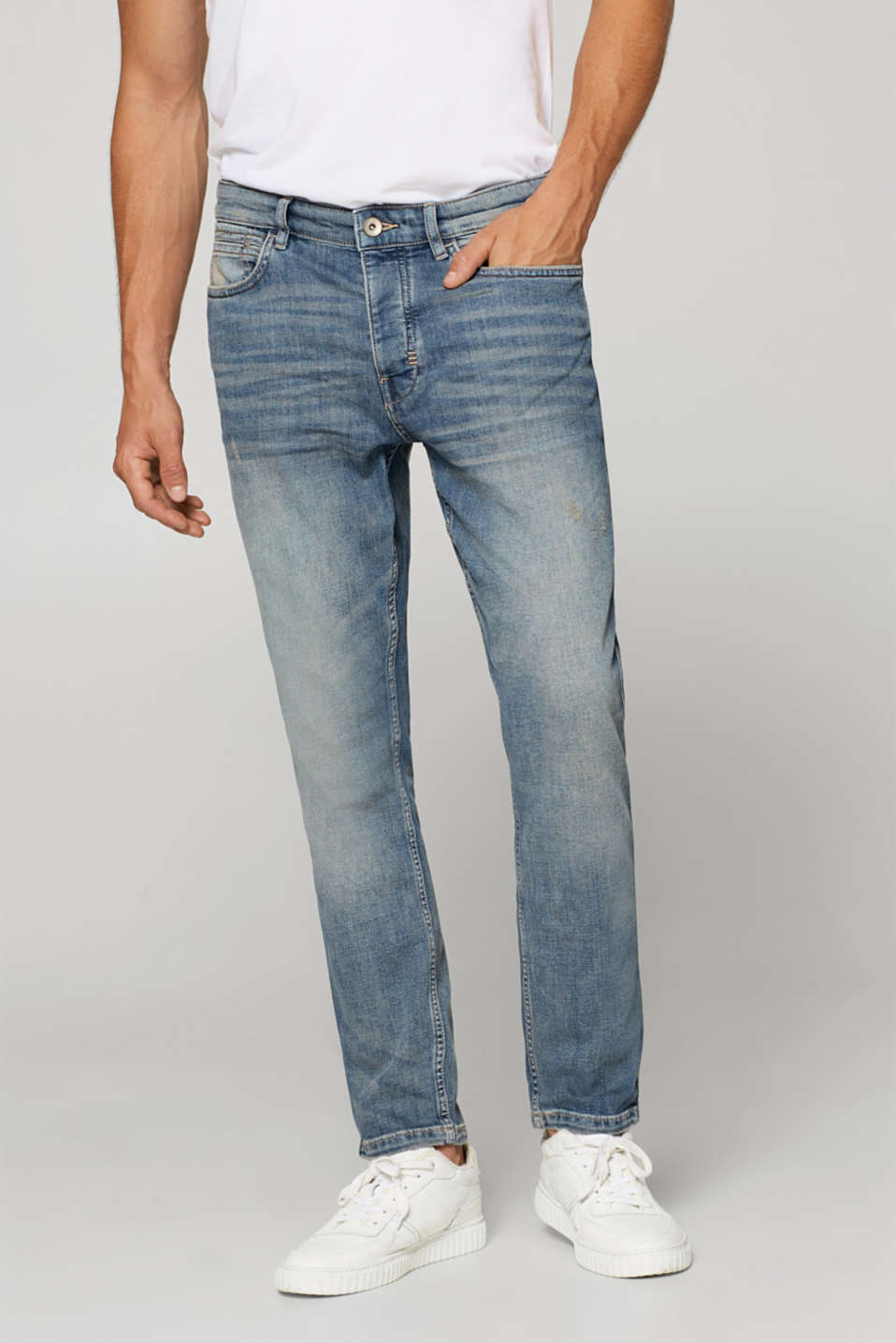 Esprit - Stretch jeans with a slight vintage effect