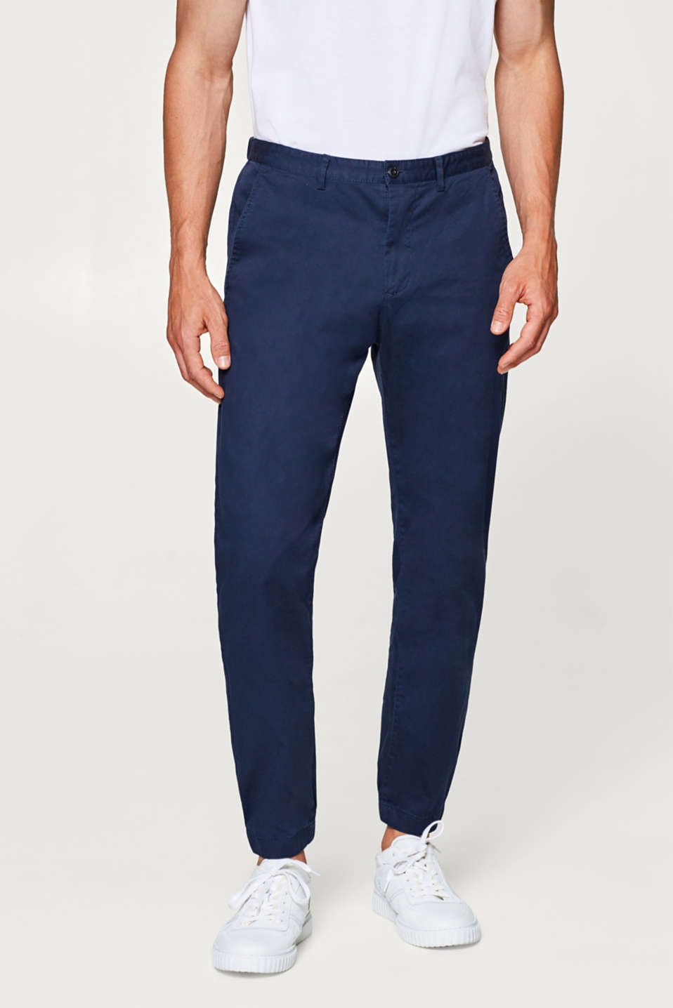 Esprit - Jogging bottoms in smooth stretch cotton