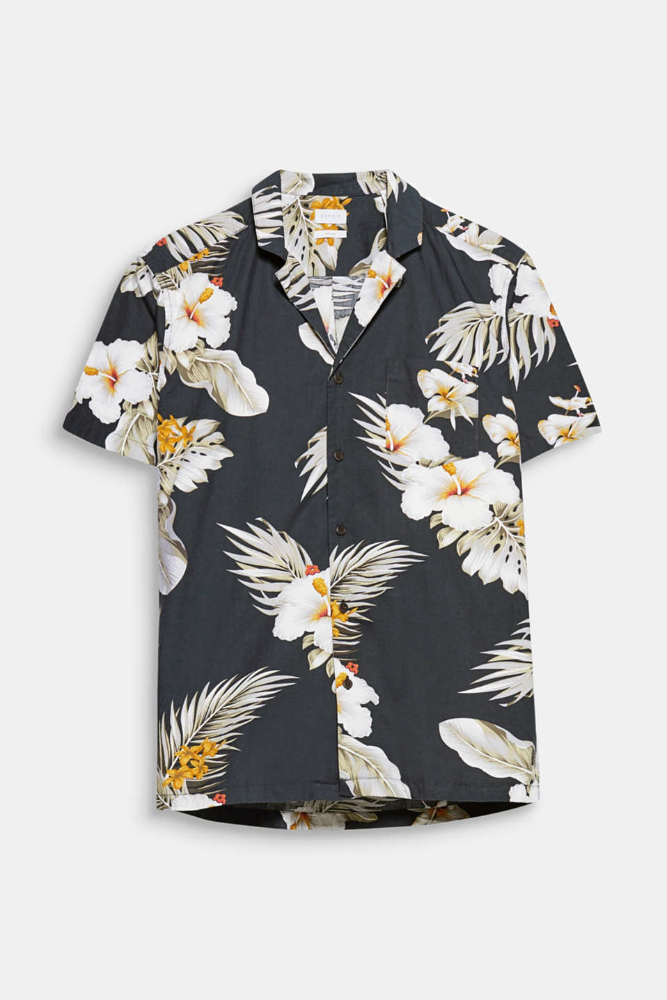 Trend: tropical floral prints! And that's not all: The airy Cuban collar completes the design of this short sleeve shirt.