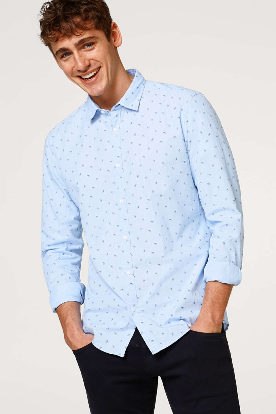Esprit - Shirt with a symbol print in 100% cotton