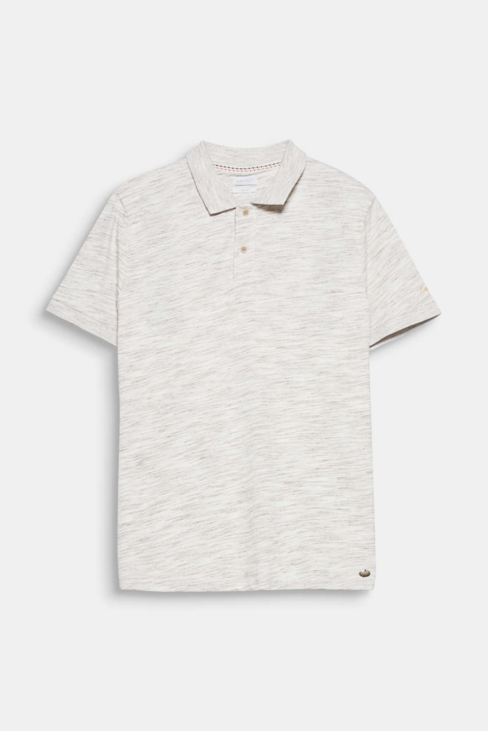 The melange jersey gives this polo shirt its casual look.