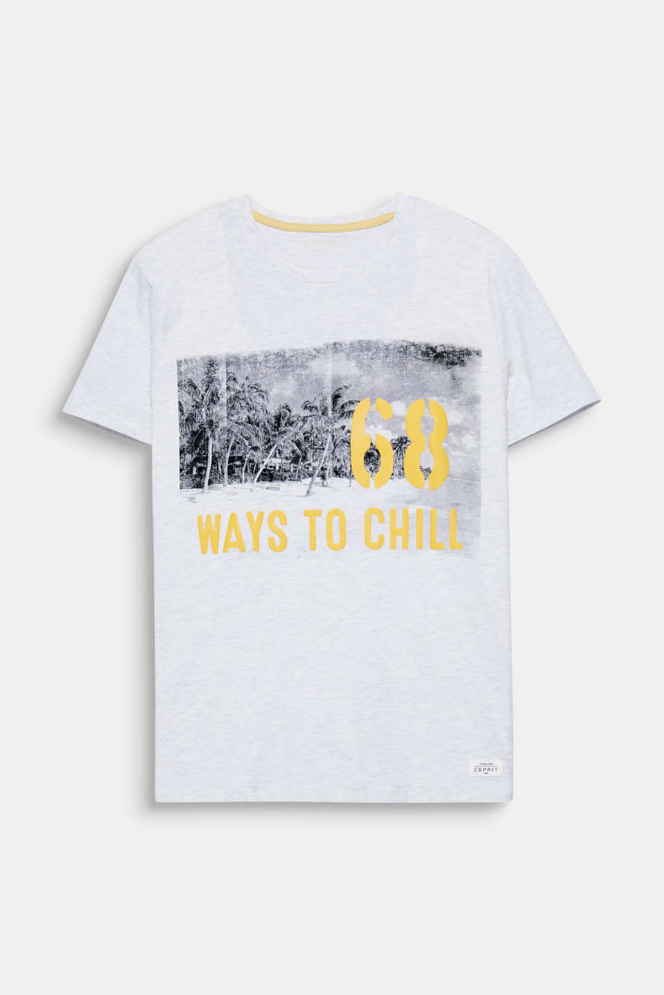 68 Ways to Chill - one print, one statement on this melange t-shirt.