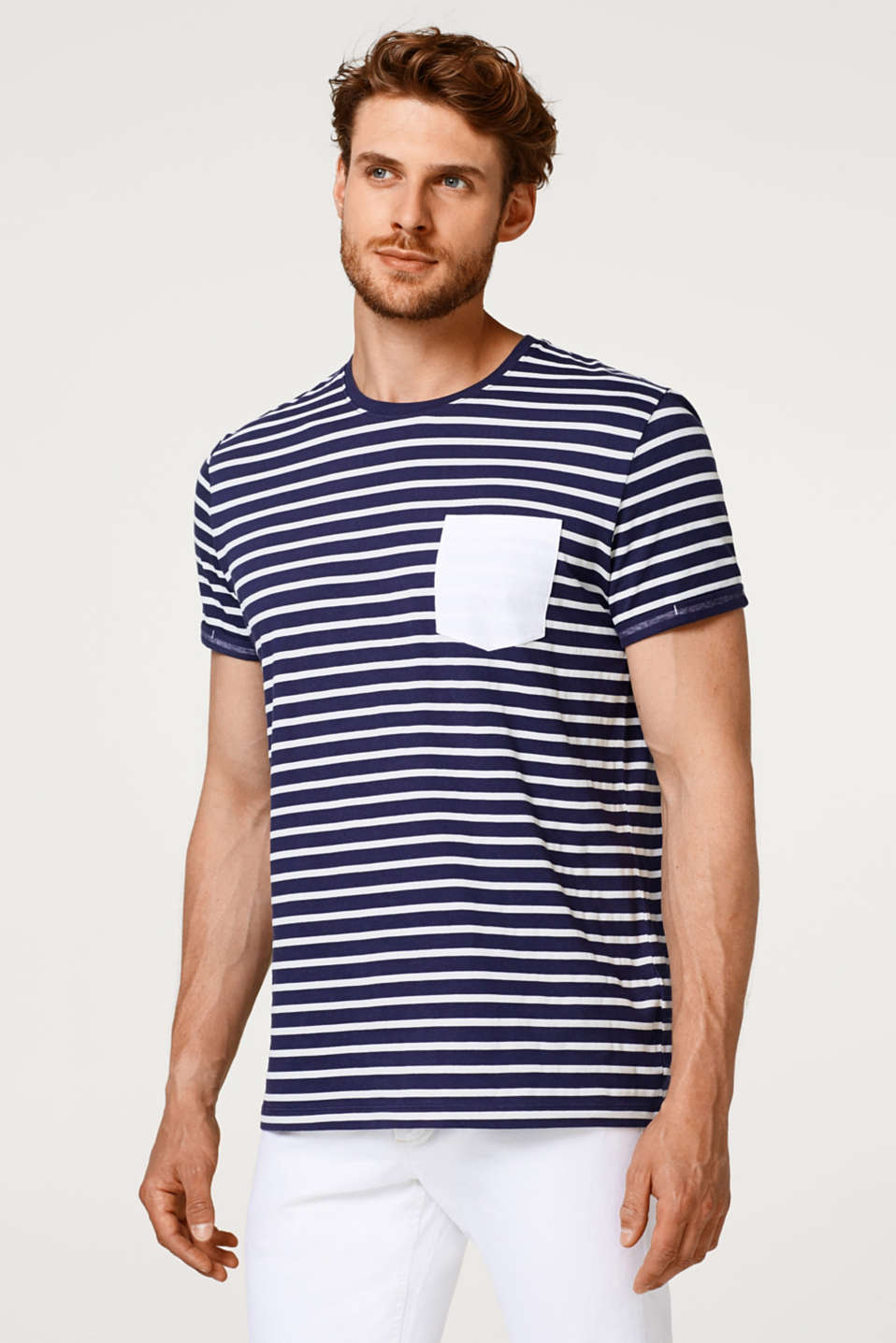 Esprit - Nautically striped T-shirt in cotton jersey