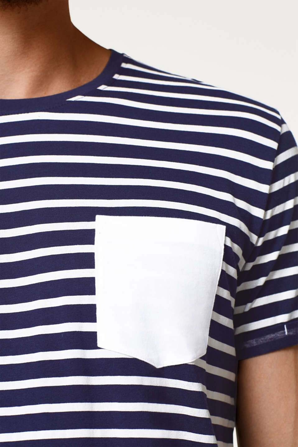 Nautically striped T-shirt in cotton jersey