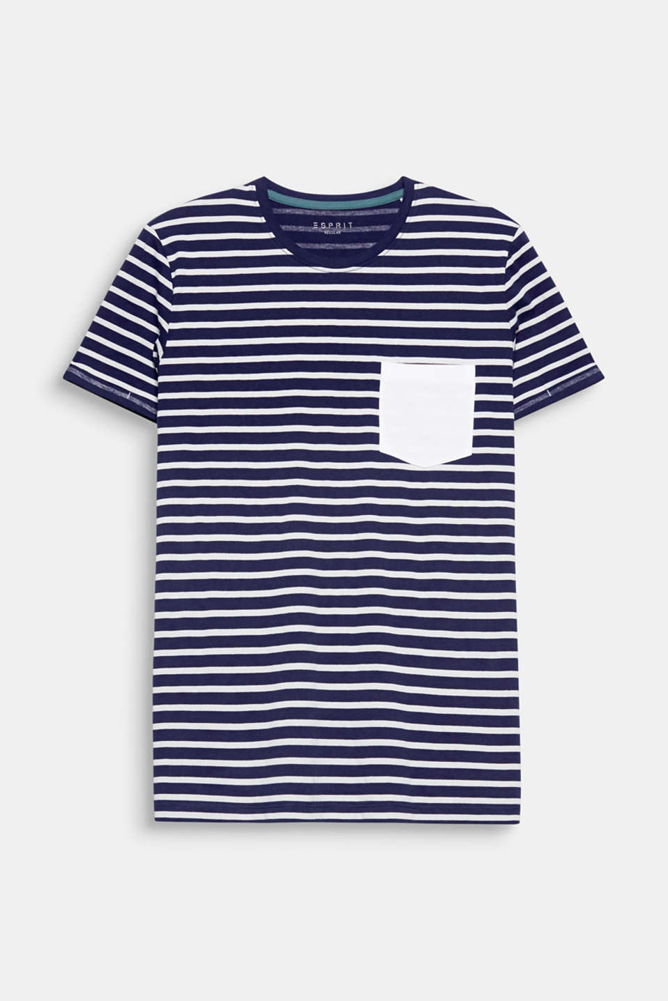 A fashion essential begging for wardrobe space: 100% cotton T-shirt with nautical stripes.