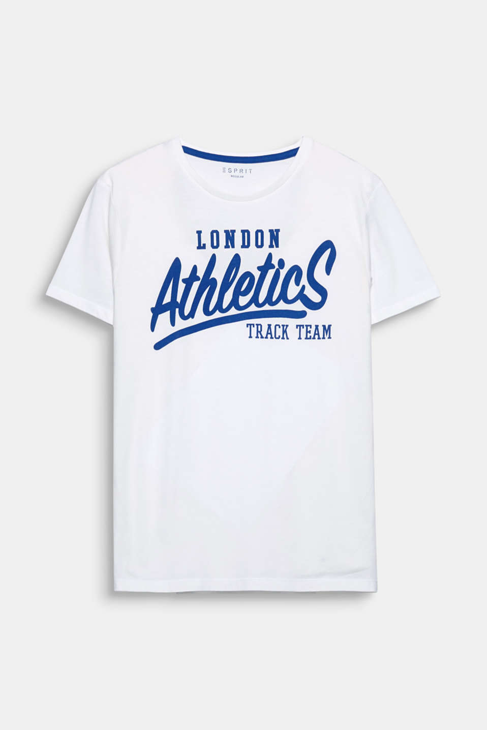 Be Part of the Team! This T-shirt is defined by its sporty print.